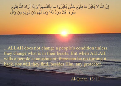 Allah Will Not Change the Condition of a People Until They Change