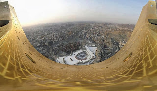 Amazing Picture of Kaaba from the Top of Abraj Al Bait Towers