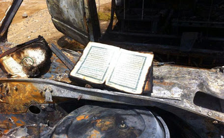 Quran Copy Emerges Intact After Car Fire