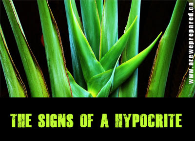Three Signs of a Hypocrite
